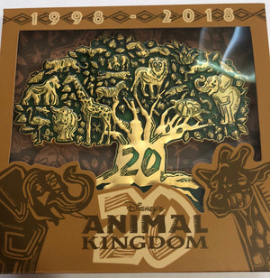 Disney Parks Animal Kingdom 20th Anniversary Tree of Life Limited Pin New w Box
