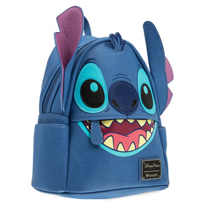 Disney Parks Stitch Faux Leather Mini Backpack by Loungefly New with Tags