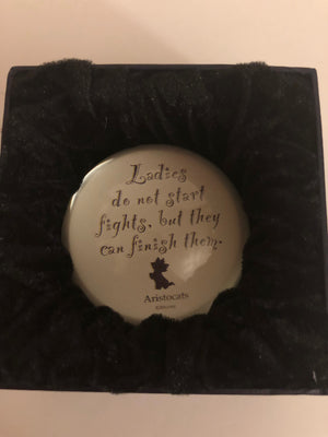 Disney Parks Marie Paperweight Ladies Do Not Start Fights New with Box