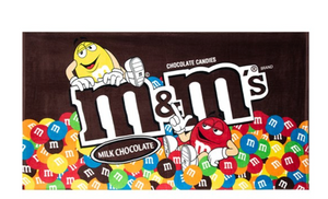 M&M's World Characters Milk Chocolate Bag Beach Towel New with Tags