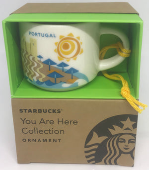 Starbucks Coffee You Are Here Portugal Ceramic Mug Ornament New with Box