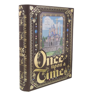 disney parks cinderella castle once upon a time photo frame and storage book new