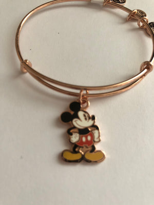 Disney Alex and Ani Mickey Silhouette Rose Gold Finish New with Tags