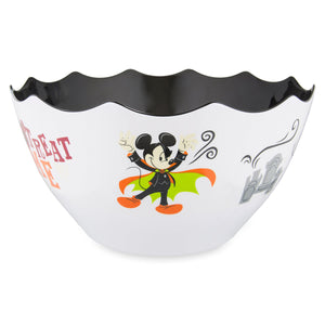 Disney Parks Mickey Mouse Minnie Trick or Treat Time Halloween Candy Bowl New