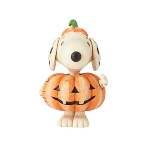 Jim Shore Peanuts Snoopy Pumpkin Mini Resin Figurine New with Box
