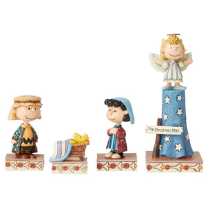 Jim Shore Peanuts Pageant Set 1 True Meaning of Christmas Figurine New with Box