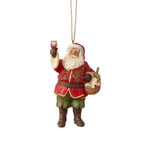 Jim Shore Vineyard Santa Christmas Ornament New with Box