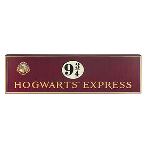 Universal Studios Harry Potter Hogwarts Express Platform 9 3/4 Wood Sign New