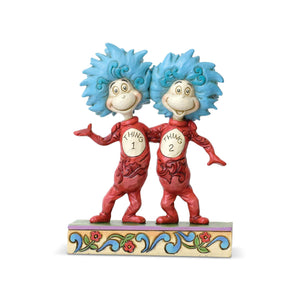 The Cat in the Hat Thing 1 and Thing 2 Dr. Seuss Jim Shore Figurine New with Box