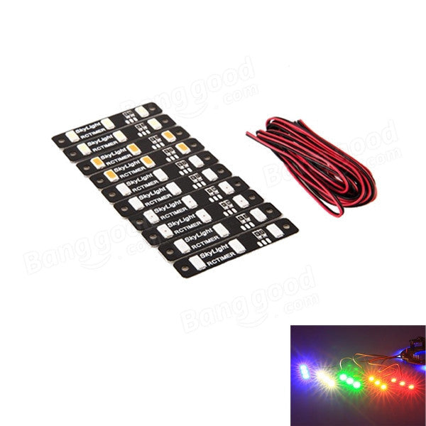 10X RC Timer Multicolor LED Skylight