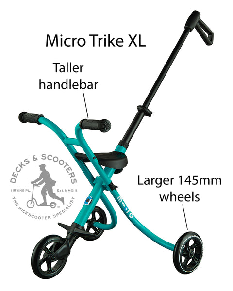 how the micro trike XL is different from micro trike