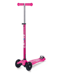 Micro Maxi Deluxe 3 wheel kick scooter for kids shocking pink
