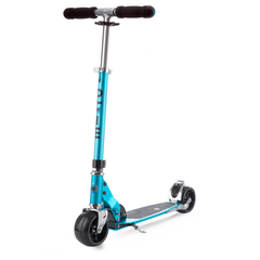 Micro kick scooter with extra wide wheels, sky blue