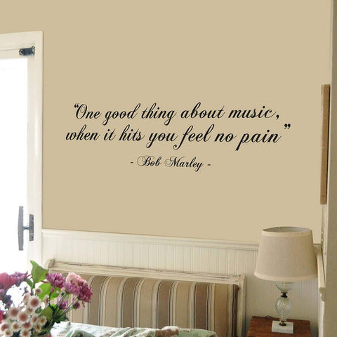 Bob Marley 'Good Thing…' Quote Wall Sticker - Oakdene Designs - 1