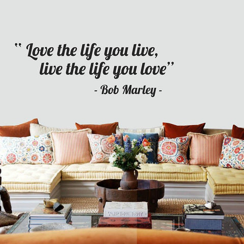 'Love The Life You Live' Quote Wall Sticker - Oakdene Designs - 1