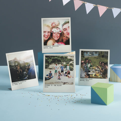Personalised Metal Photo Prints, Set Of Four