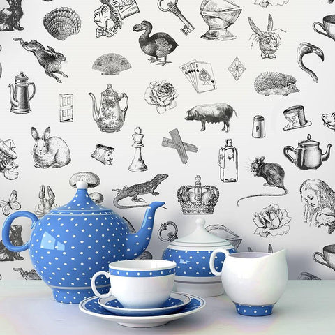 'Alice In Wonderland' Self Adhesive Wallpaper - Oakdene Designs - 1