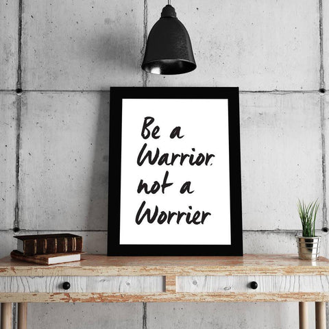 'Be A Warrior' Typography Print - Oakdene Designs - 1