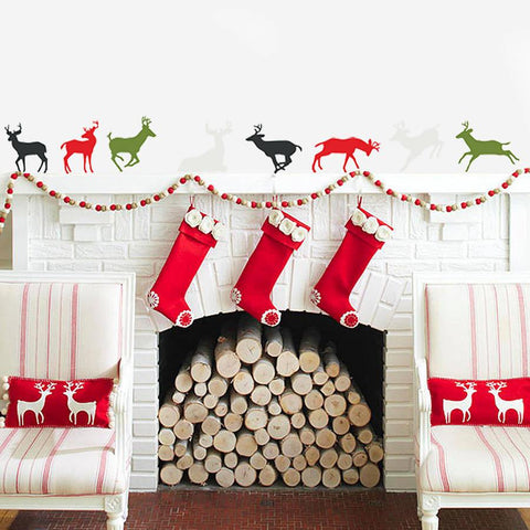 'Christmas Reindeer' Vinyl Wall Stickers - Oakdene Designs - 1
