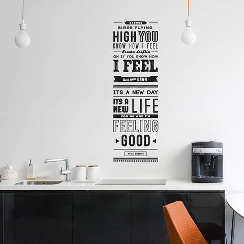'Feeling Good' Quote Wall Sticker - Oakdene Designs - 1