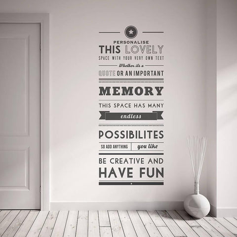 Personalised Quote Wall Sticker - Oakdene Designs - 1