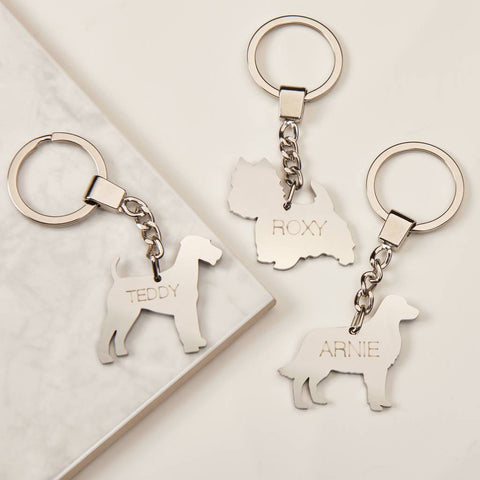 Personalised Stainless Steel Pet Keyring
