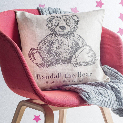 Personalised Teddy Bear Cushion - Oakdene Designs - 1