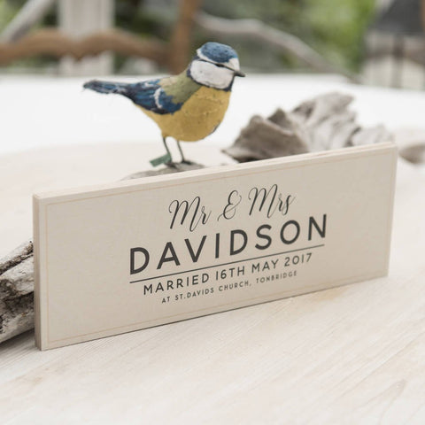 Personalised Wooden Wedding Details Sign