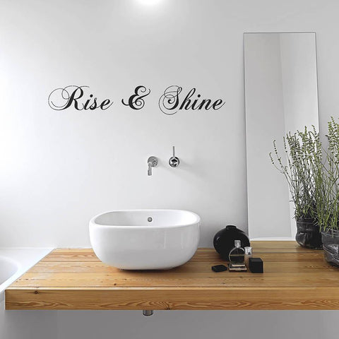'Rise And Shine' Wall Sticker - Oakdene Designs - 1