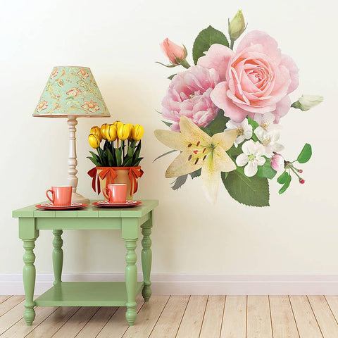 Vintage Inspired Floral Wall Sticker - Oakdene Designs - 1