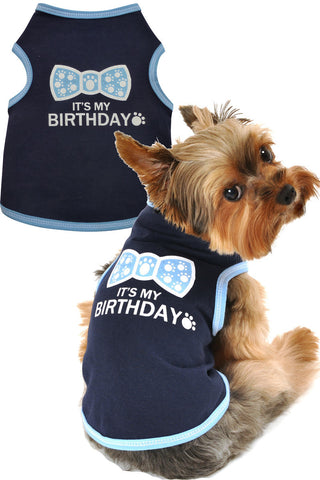 It's My Birthday Dog Tank in Navy - Apparel - BeauJax Boutique