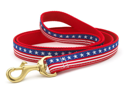 American Stars and Stripes Patriotic Ribbon Dog Lead - Patriotic - BeauJax Boutique