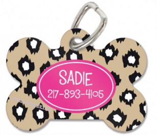 Leopard Personalized Bone Pet Tag Available in 3 Colors! - Pet Tags - BeauJax Boutique
