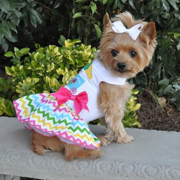 Ice Cream Cart Designer Dog Dress Matching Leash Included - Doggy Dresses - BeauJax Boutique