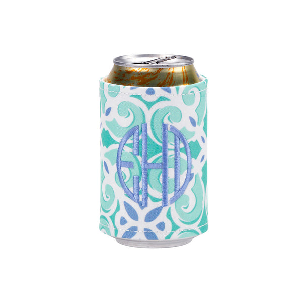 Sea Tile Monogrammed Drink Wrap - Coozies - BeauJax Boutique