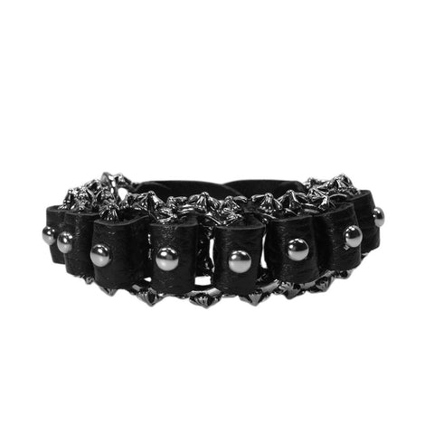 Unisex Heavy Metal Leather Bracelet