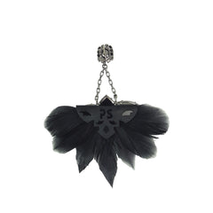 Embellished Feather Earrings - Bon Flare Ltd.