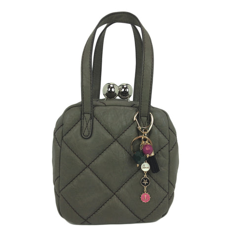 Quilted Buckle Handbag