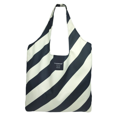 Printed Diagonal Stripe  Hobo Tote