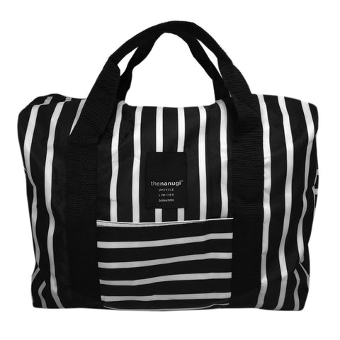 Printed Stripe Packable Duffel