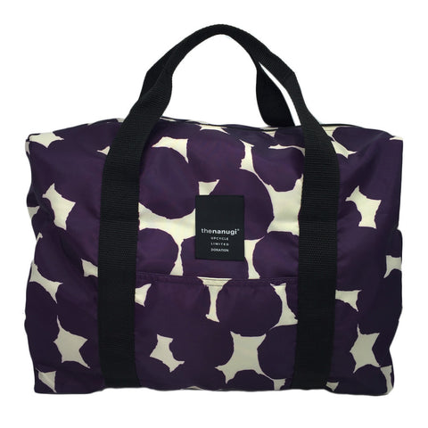Printed Dot Motif Packable Duffel