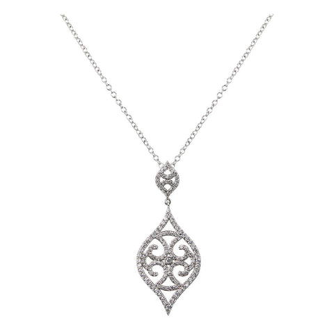 Antique Diamond Semi-Mount Pendant