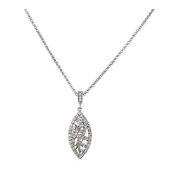 Antique Diamond Semi-Mount Pendant Necklace - Bon Flare Ltd.