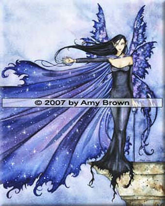 Cloak of Stars by Amy Brown -  8x10 inch ceramic tile