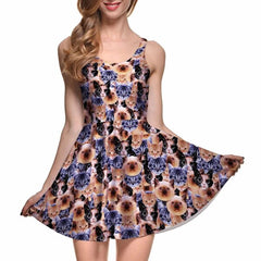 crazy cat lady skater dress in discount