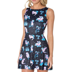 Cat & Friends Skater Dress