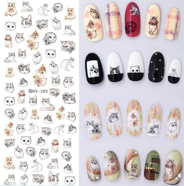 Handful of Cats Nail Art Decals Set