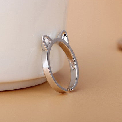 My Pretty Cat Ears 925 Sterling Silver Ring - Free Giveaway - One Cool Gift  - 3