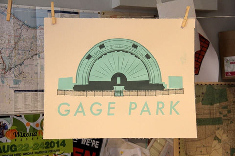 Gage Park Bandshell Screen Print