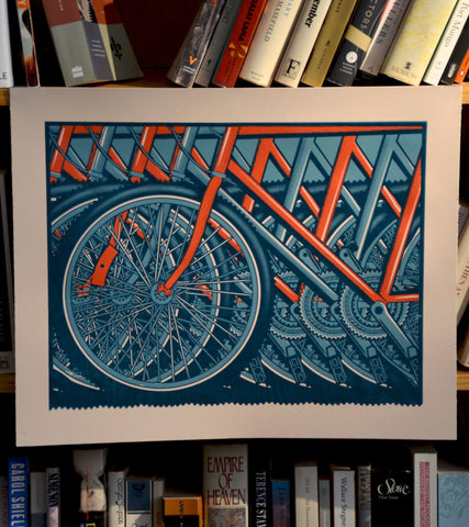Bicycles Screen Printed Poster